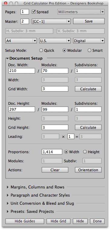 Modular Mode Setup